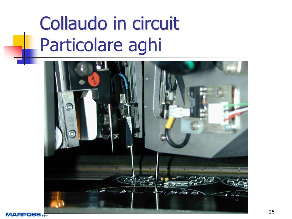25 Collaudo in circuit Collaudo in circuit Particolare aghi