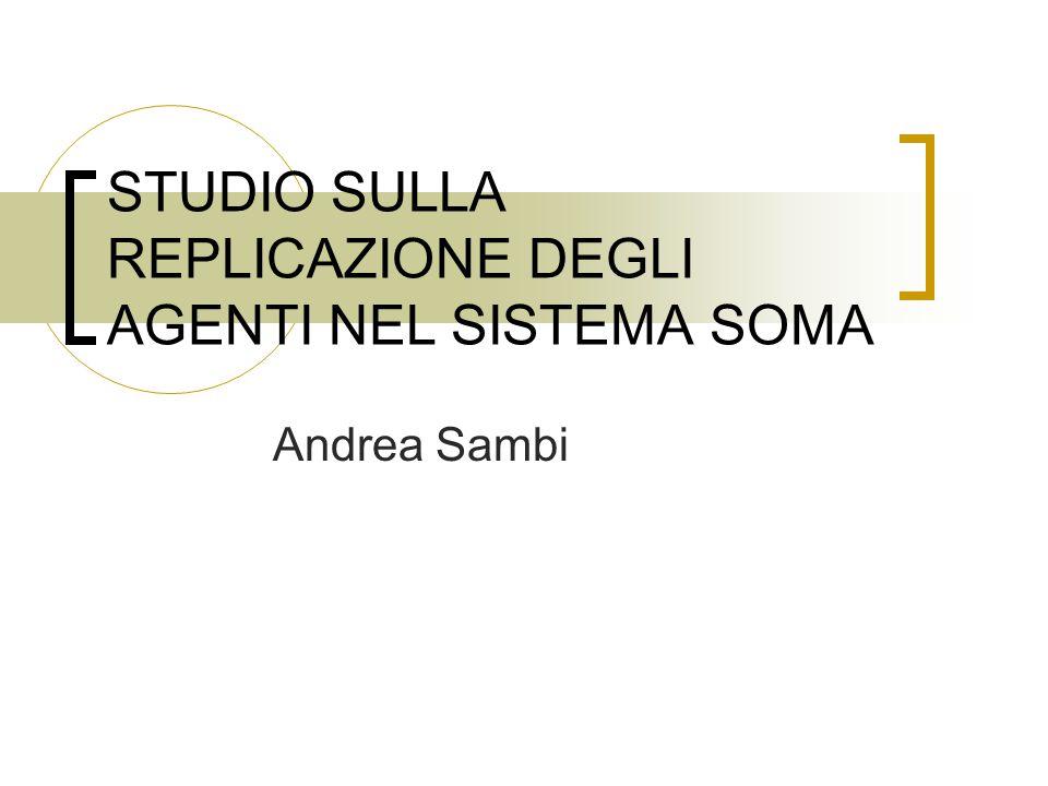 STUDIO SULLA REPLICAZIONE DEGLI AGENTI NEL SISTEMA SOMA Andrea Sambi
