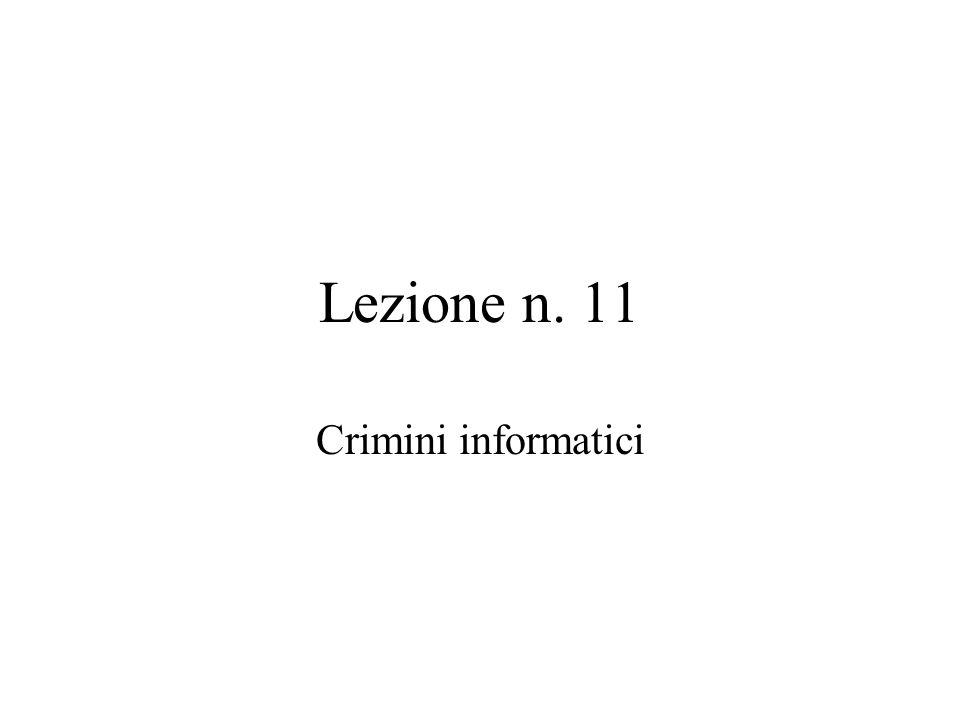 Per crimine informatico intendiamo ogni comportamento previsto e punito dal codice penale o da leggi speciali in cui qualsiasi strumento informatico o telematico rappresenti un elemento determinante ai fini della qualificazione del fatto di reato.