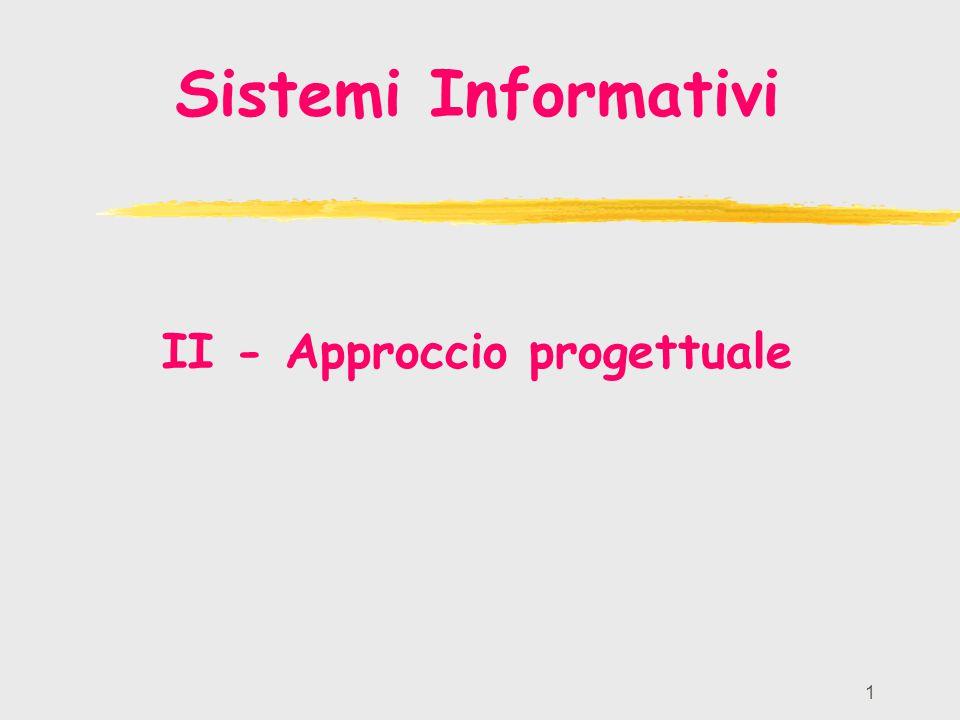 1 Sistemi Informativi II - Approccio progettuale