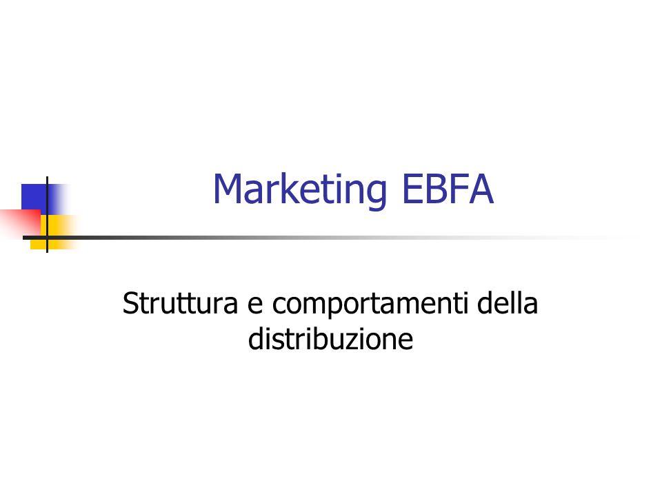Marketing EBFA Struttura e comportamenti della distribuzione