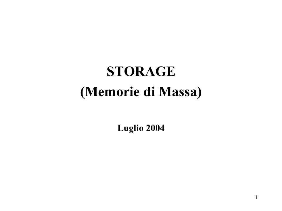1 STORAGE (Memorie di Massa) Luglio 2004