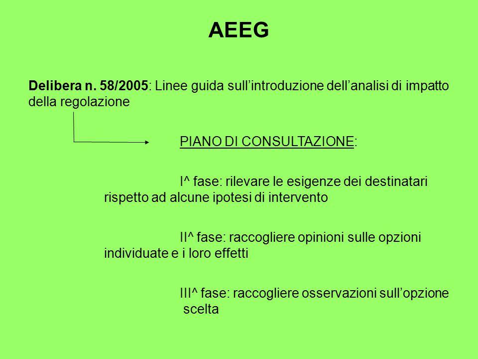 AEEG Delibera n.