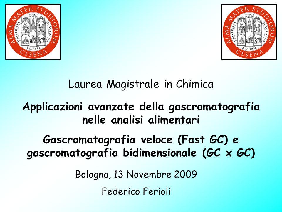 Laurea Magistrale in Chimica Applicazioni avanzate della gascromatografia nelle analisi alimentari Gascromatografia veloce (Fast GC) e gascromatografi