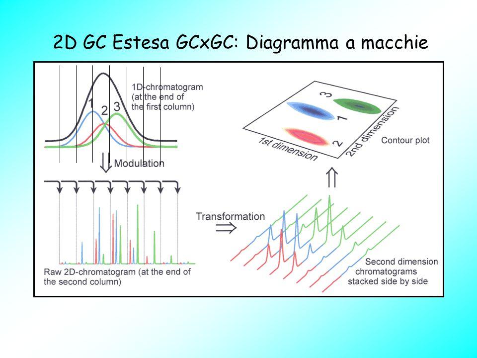 2D GC Estesa GCxGC: Diagramma a macchie