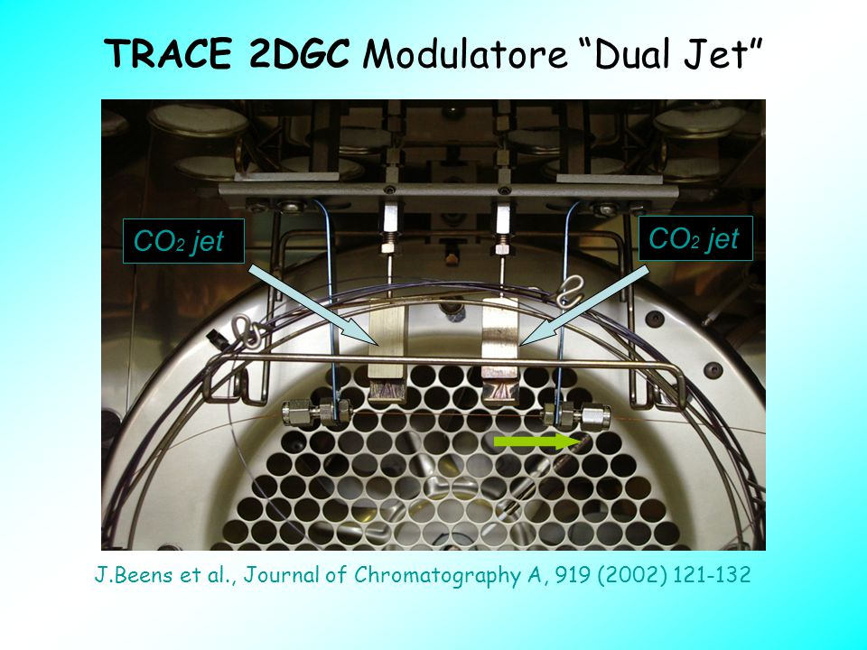 "TRACE 2DGC Modulatore ""Dual Jet"" CO 2 jet J.Beens et al., Journal of Chromatography A, 919 (2002) 121-132"