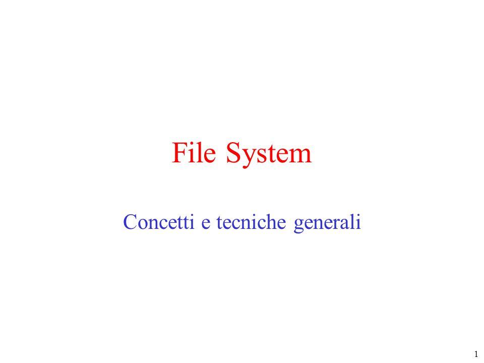 1 File System Concetti e tecniche generali