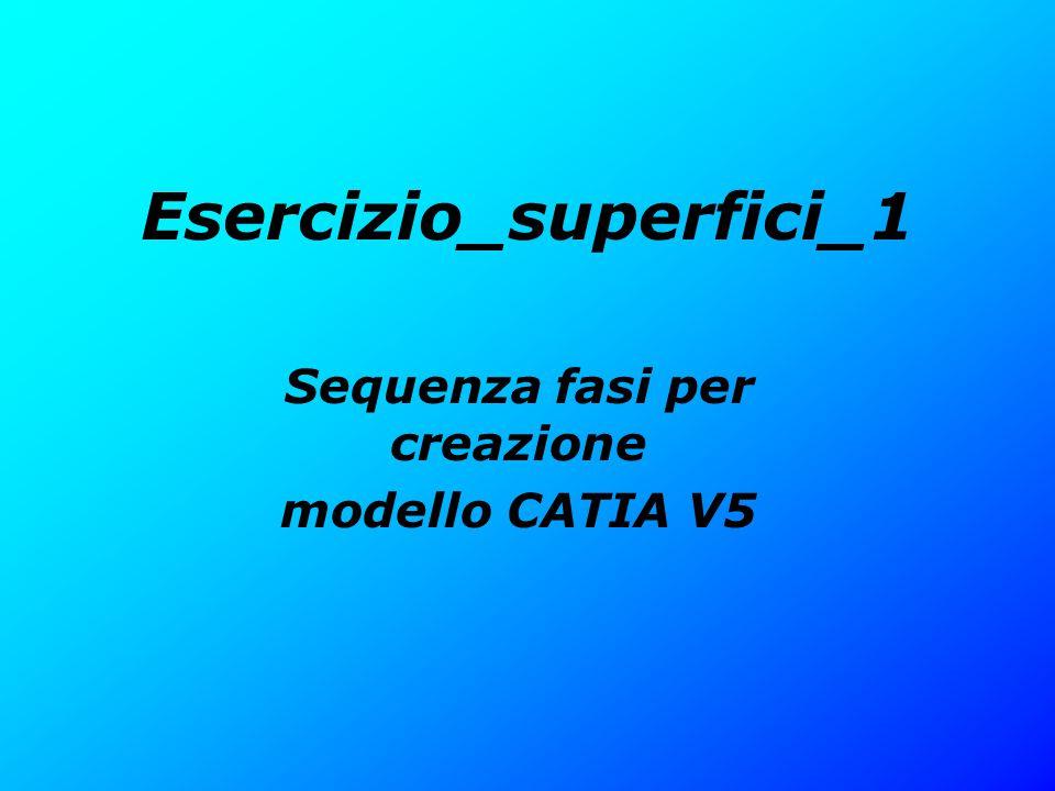 Esercizio_superfici_1 Sequenza fasi per creazione modello CATIA V5