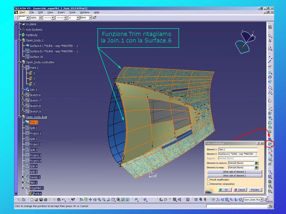 Funzione Trim ritagliamo la Join.1 con la Surface.6