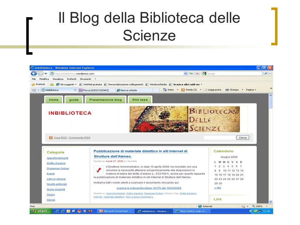 Il Blog della Biblioteca delle Scienze
