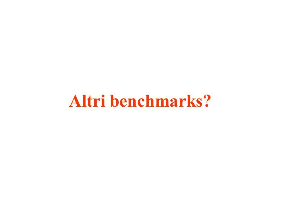 Altri benchmarks