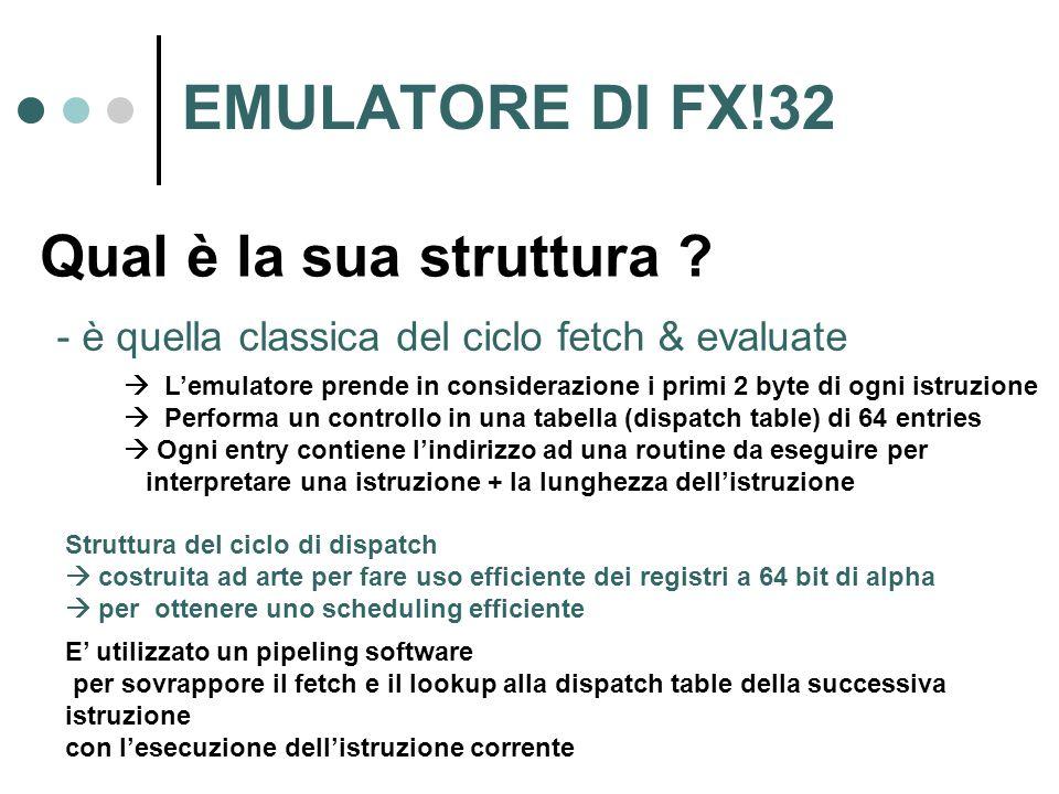 EMULATORE DI FX!32 Qual è la sua struttura .