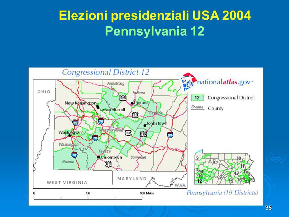 35 Elezioni presidenziali USA 2004 Pennsylvania 12