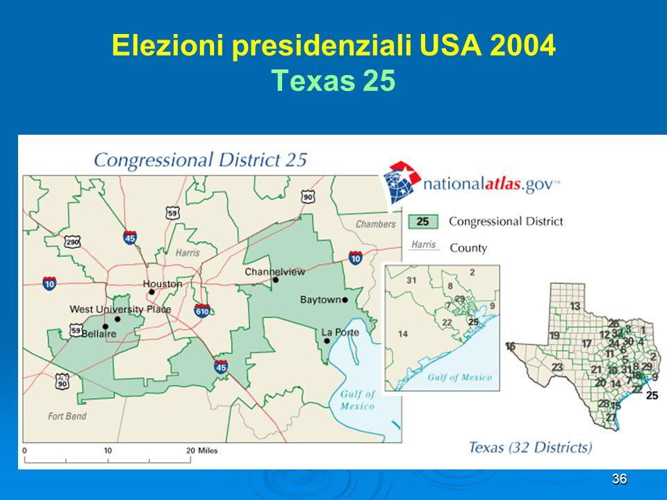 36 Elezioni presidenziali USA 2004 Texas 25