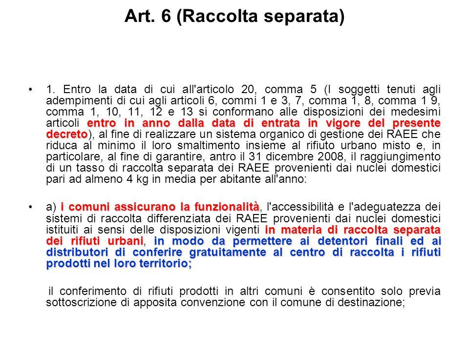 Art. 5 (Divieto di utilizzo di determinate sostanze) (1° luglio 2007)1. Fatto salvo quanto stabilito all'allegato 5, a decorrere dal 1° luglio 2006, (