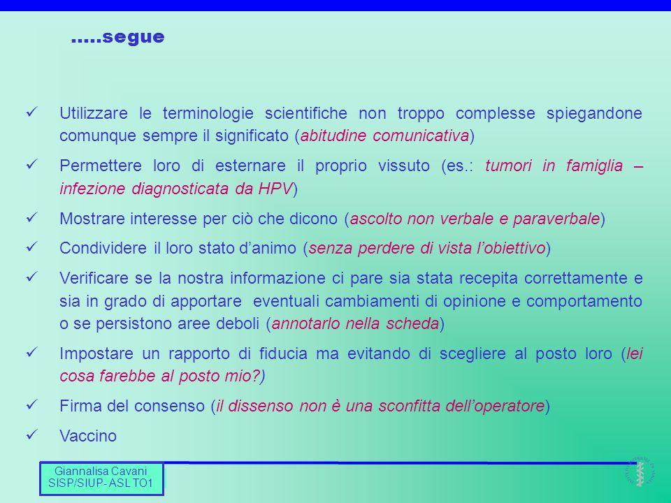 Barbara De Mei CNESPS Utilizzare le terminologie scientifiche non troppo complesse spiegandone comunque sempre il significato (abitudine comunicativa)
