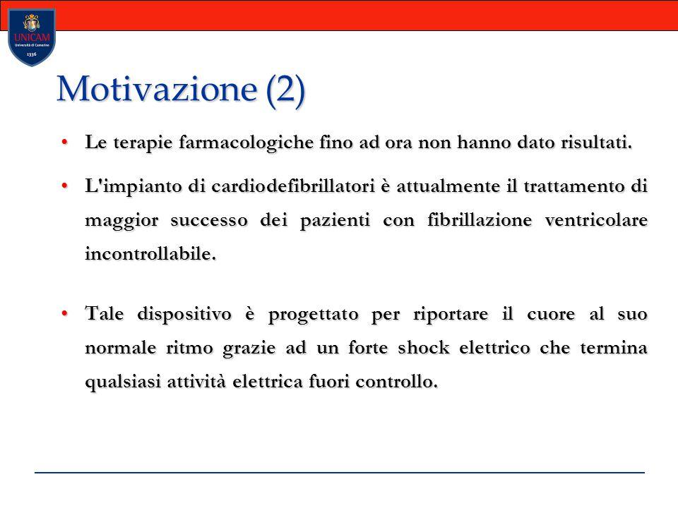 Motivazione (2)  Le terapie farmacologiche fino ad ora non hanno dato risultati.Le terapie farmacologiche fino ad ora non hanno dato risultati. L'imp