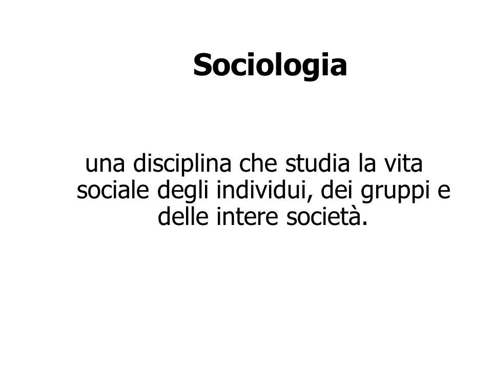 Sociologia Si oppone al senso comune Fornisce dei fenomeni sociali rappresentazioni verificabili Contribuisce, a sua volta, alla formazione di credenze di senso comune.