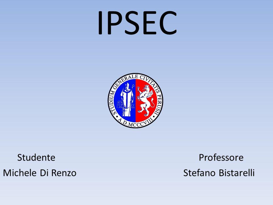 IPSEC Studente Professore Michele Di Renzo Stefano Bistarelli