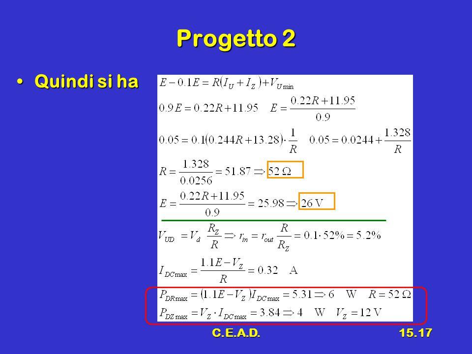 C.E.A.D.15.17 Progetto 2 Quindi si haQuindi si ha