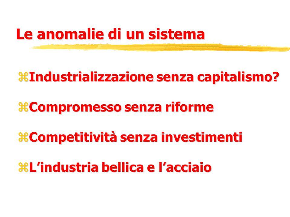 Le anomalie di un sistema zIndustrializzazione senza capitalismo.