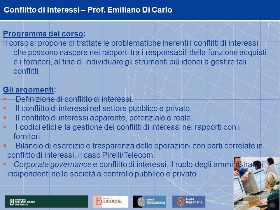 Conflitto di interessi – Prof.