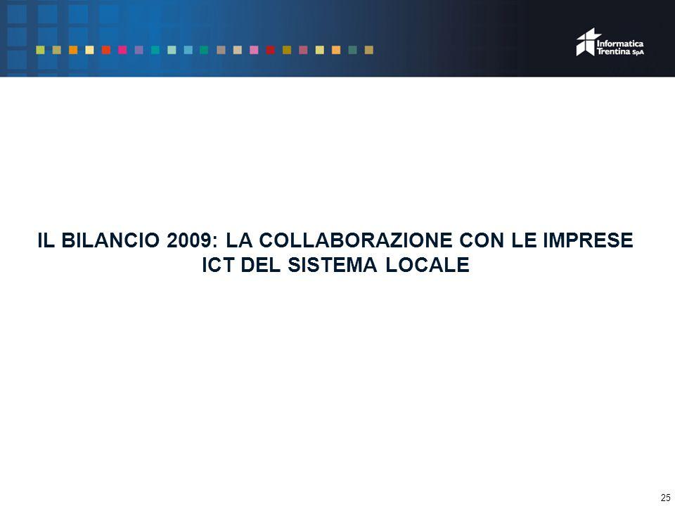 25 IL BILANCIO 2009: LA COLLABORAZIONE CON LE IMPRESE ICT DEL SISTEMA LOCALE