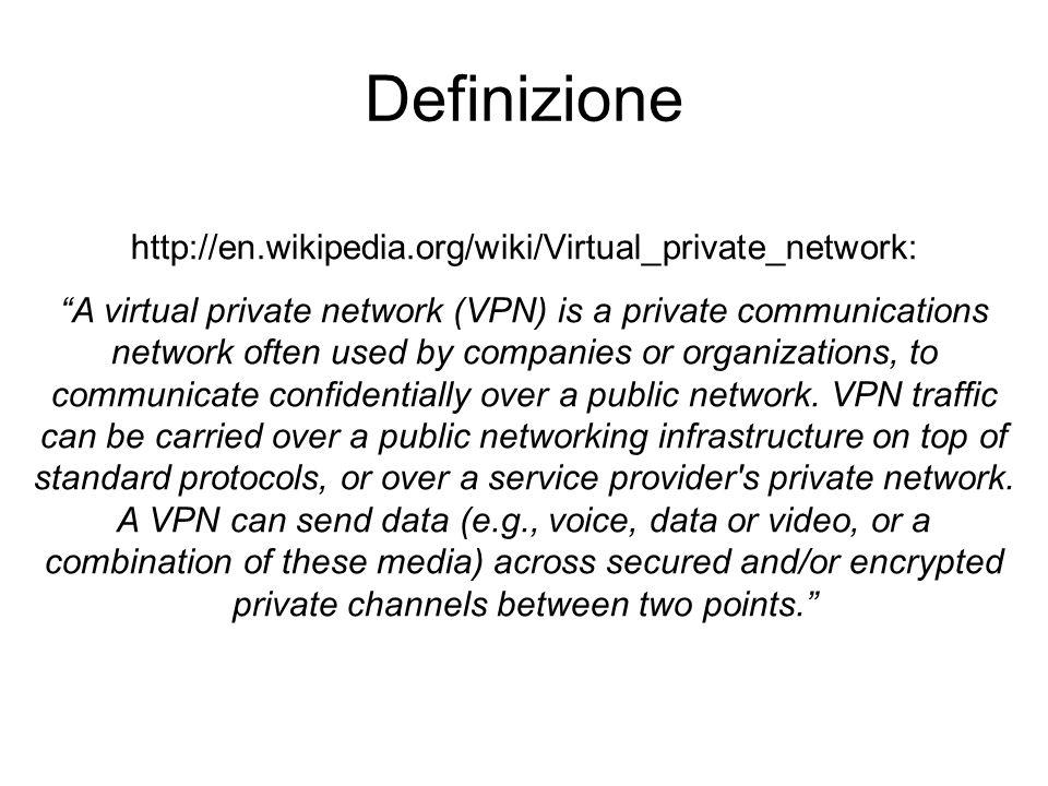 Virtual private Network .Il termine VPN è un termine generico e non un marchio.