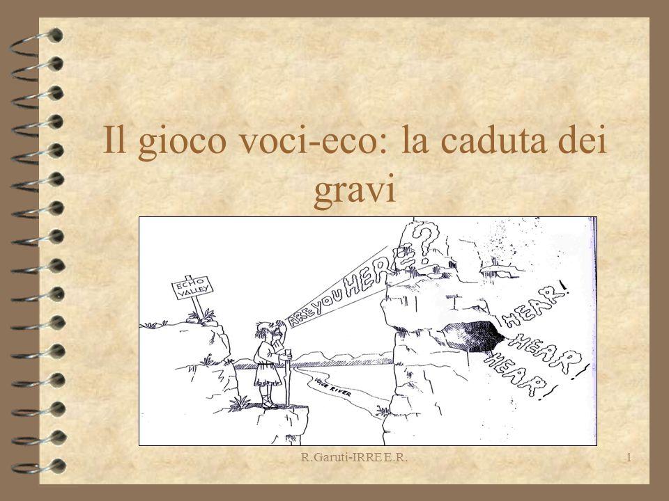 R.Garuti-IRRE E.R.1 Il gioco voci-eco: la caduta dei gravi R.Garuti