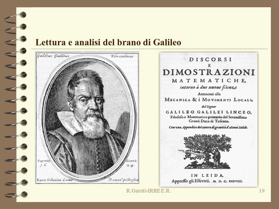 R.Garuti-IRRE E.R.19 Lettura e analisi del brano di Galileo