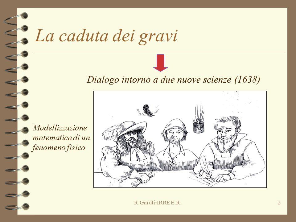 R.Garuti-IRRE E.R.2 La caduta dei gravi Modellizzazione matematica di un fenomeno fisico Dialogo intorno a due nuove scienze (1638)