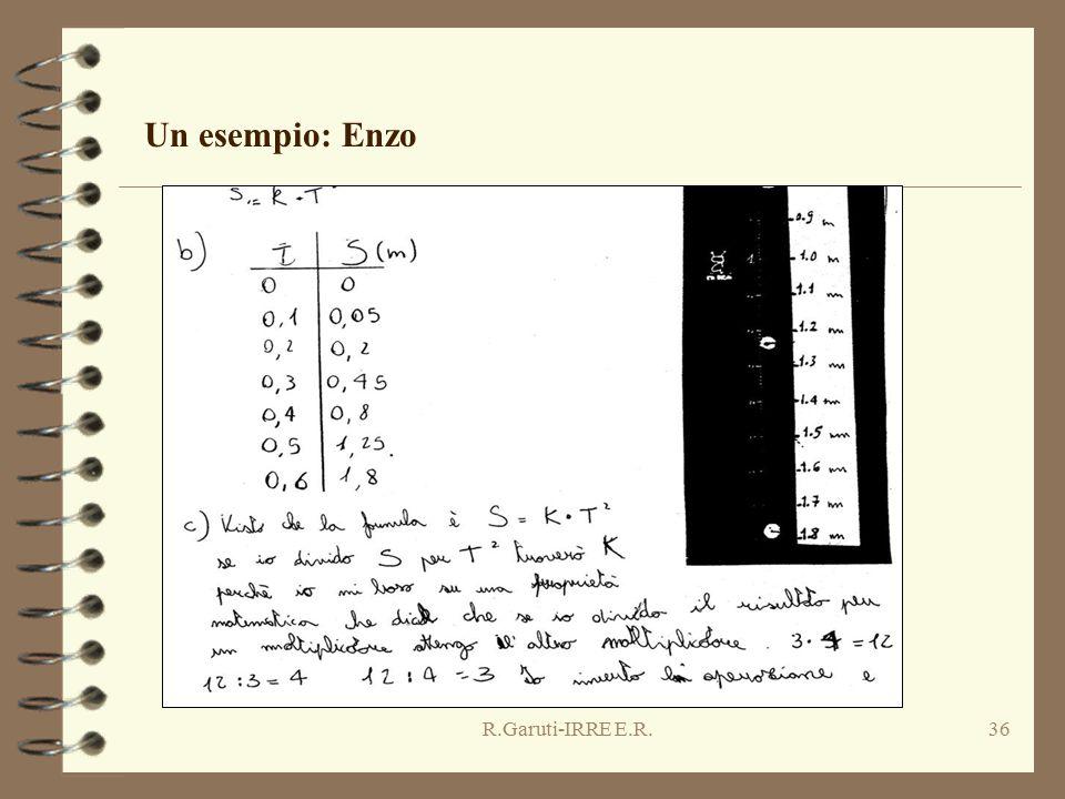 R.Garuti-IRRE E.R.36 Un esempio: Enzo