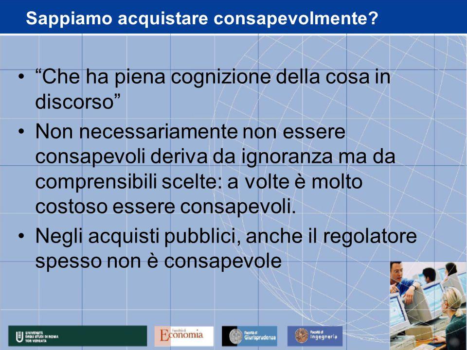 Consapevolezza dei regolatori.Art. 86.