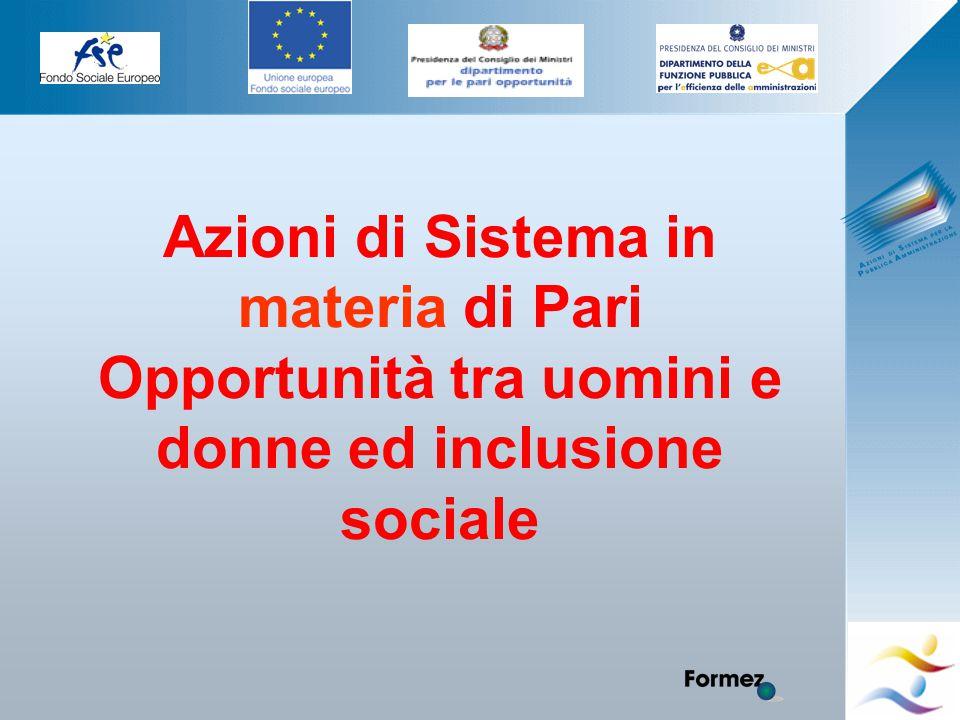 Elena Murtas -Campobasso- Azioni di Sistema in materia di Pari Opportunità tra uomini e donne ed inclusione sociale