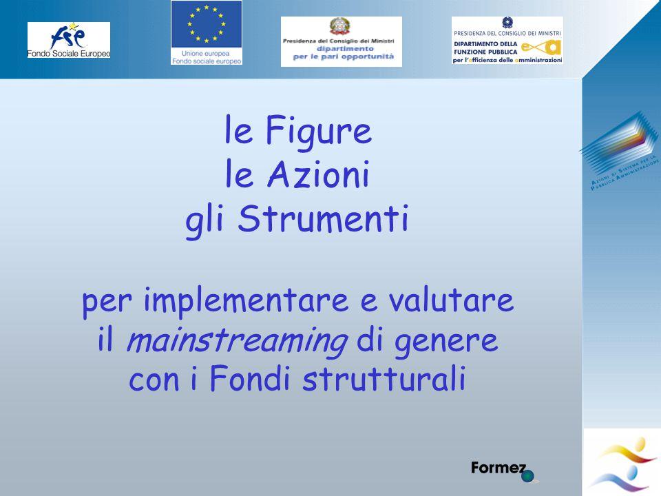 Elena Murtas -Campobasso- le Figure le Azioni gli Strumenti per implementare e valutare il mainstreaming di genere con i Fondi strutturali
