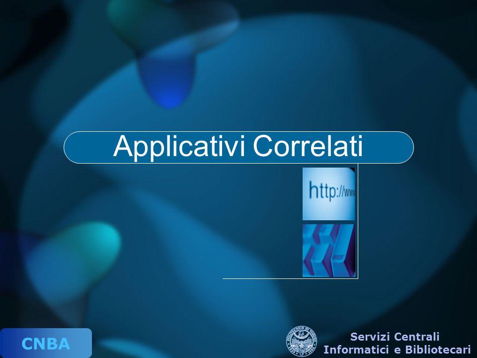 CNBA Servizi Centrali Informatici e Bibliotecari Applicativi Correlati