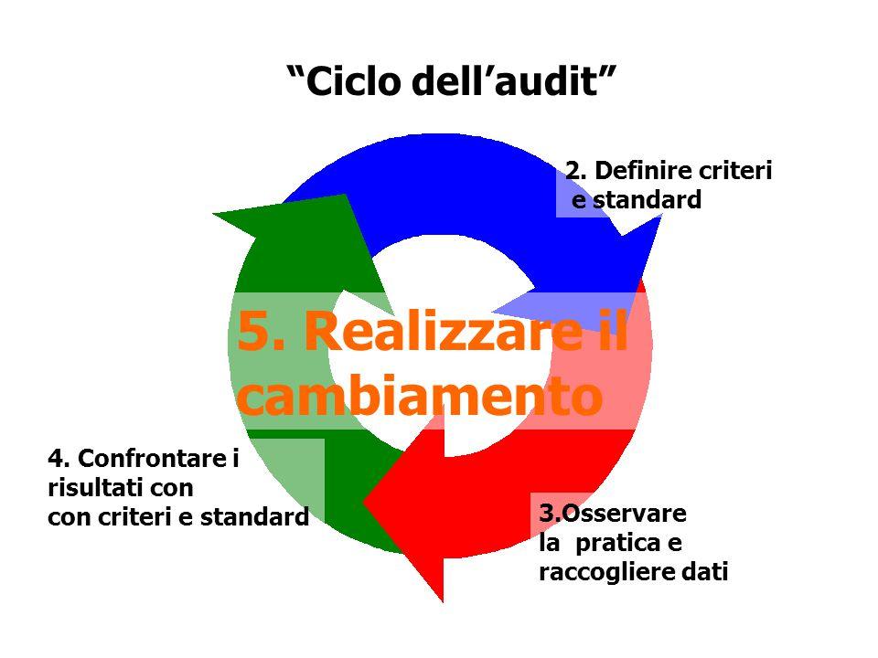 Ciclo dell'audit 5.Realizzare il cambiamento 2.