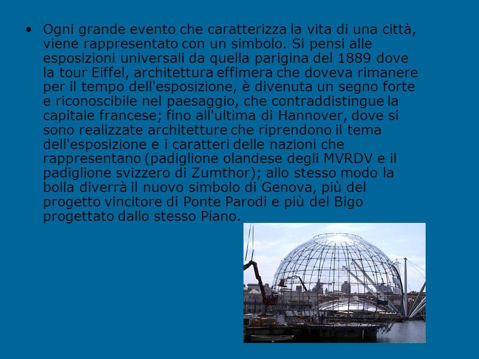 Nello specchio acqueo del porto storico di Genova, una nuova architettura progettata da Renzo Piano appartiene al paesaggio urbano. Denominata