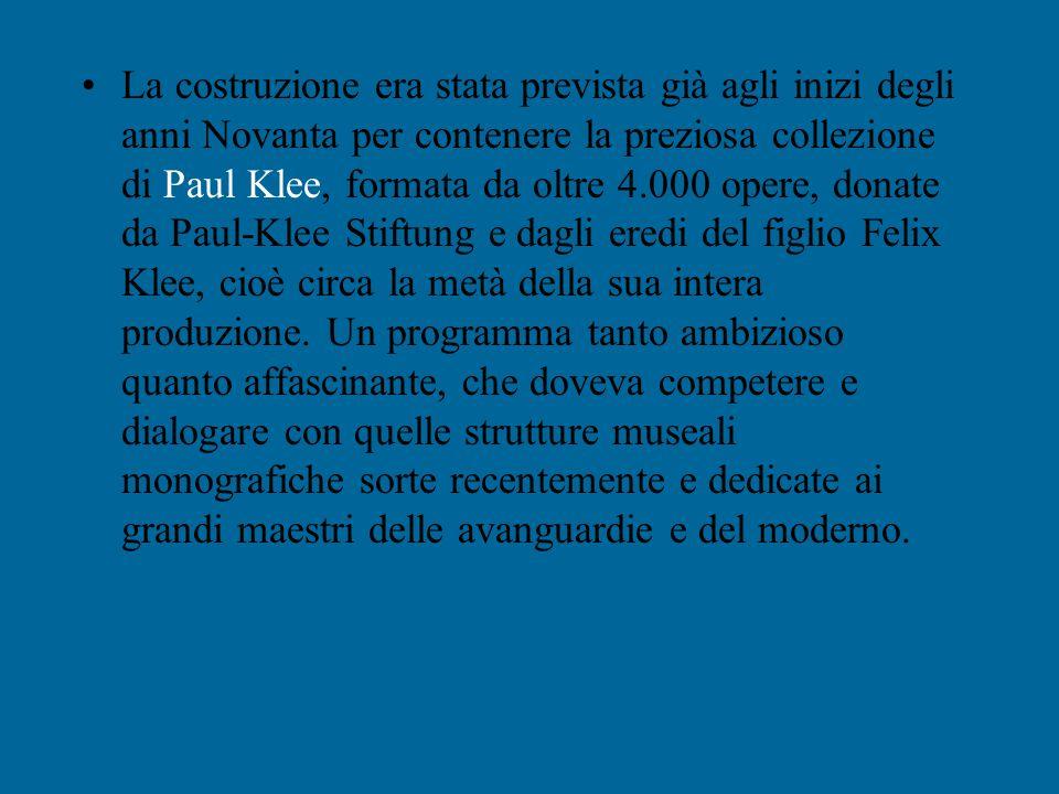 È da poco terminato il Paul Klee Zentrum, il museo privato destinato all'opera del grande pittore, realizzato alla periferia di Berna dal Renzo Piano