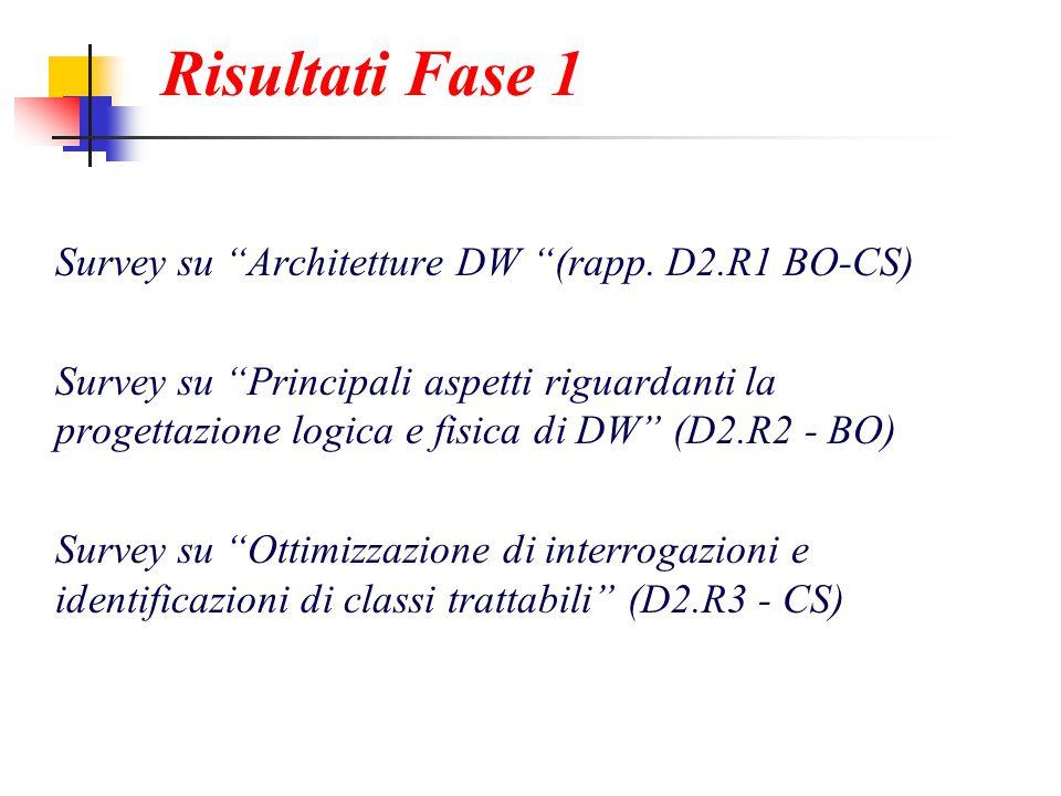 Risultati Fase 1 Survey su Architetture DW (rapp.