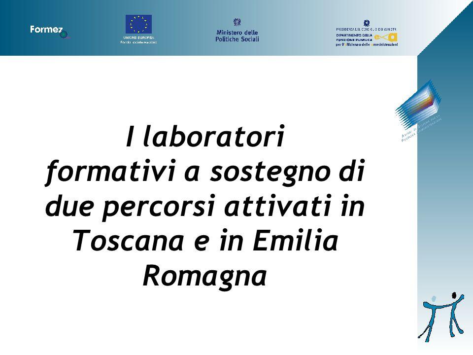 I laboratori formativi a sostegno di due percorsi attivati in Toscana e in Emilia Romagna