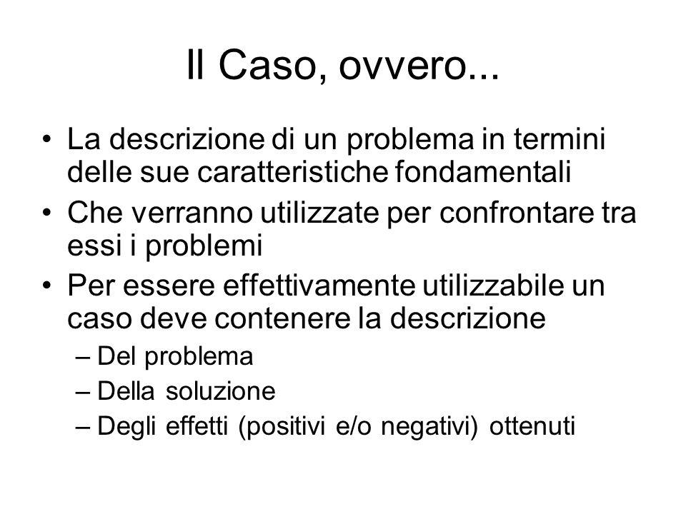 Il Caso, ovvero...