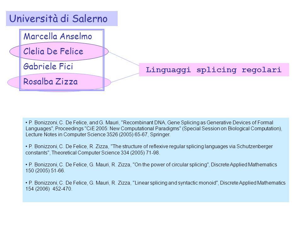 Linguaggi splicing regolari P. Bonizzoni, C. De Felice, and G.