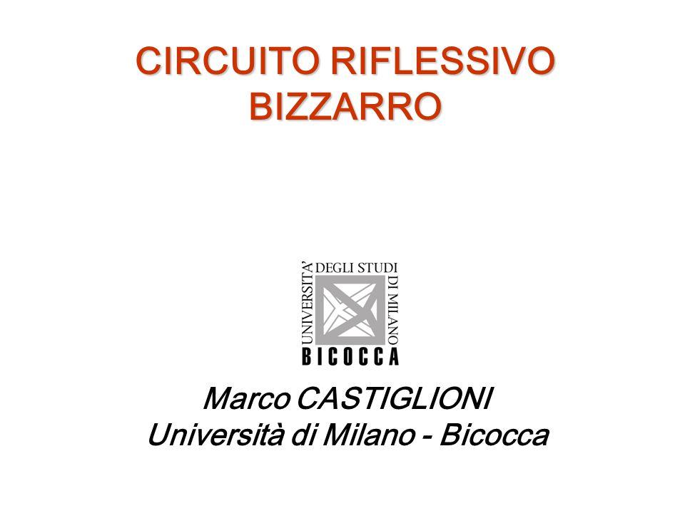CIRCUITO RIFLESSIVO BIZZARRO Marco CASTIGLIONI Università di Milano - Bicocca