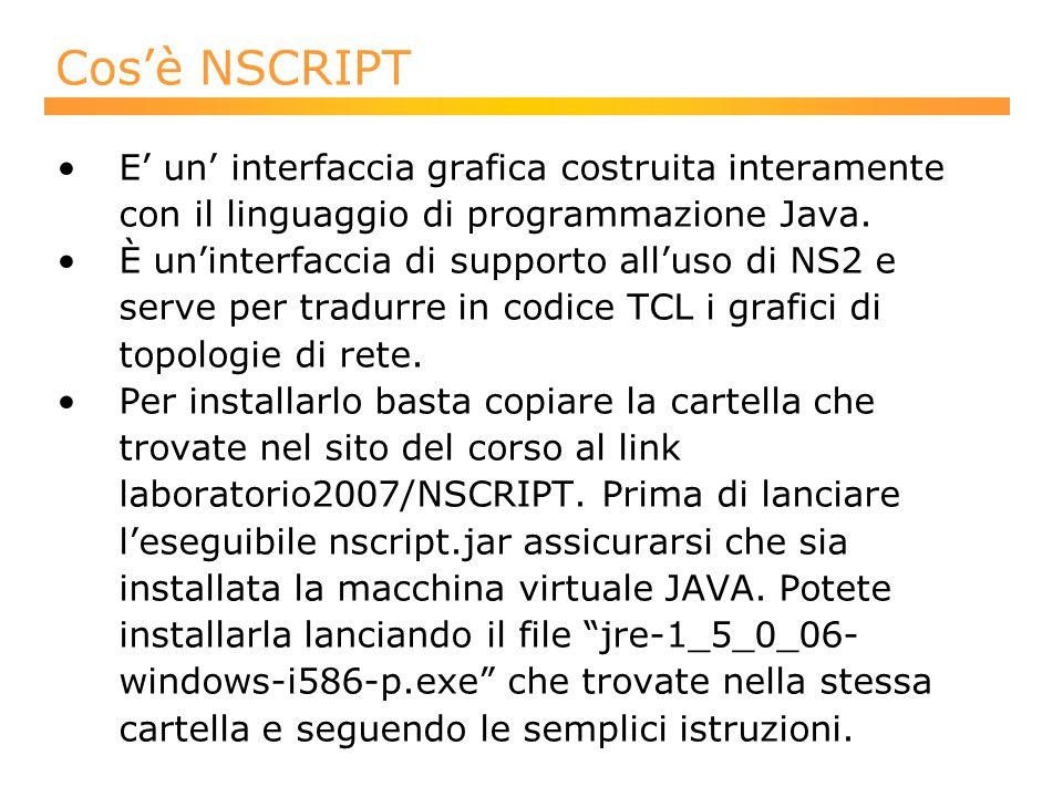 Cos'è NSCRIPT E' un' interfaccia grafica costruita interamente con il linguaggio di programmazione Java.