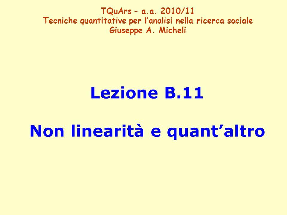 Lezione B.11 Non linearità e quant'altro TQuArs – a.a.
