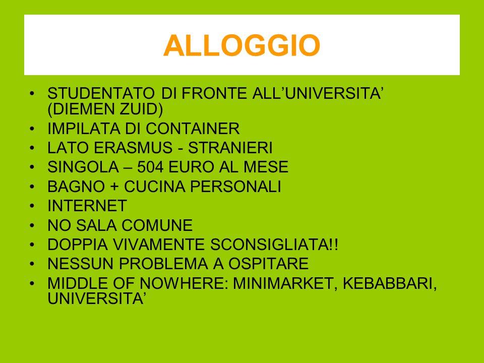 ALLOGGIO STUDENTATO DI FRONTE ALL'UNIVERSITA' (DIEMEN ZUID) IMPILATA DI CONTAINER LATO ERASMUS - STRANIERI SINGOLA – 504 EURO AL MESE BAGNO + CUCINA PERSONALI INTERNET NO SALA COMUNE DOPPIA VIVAMENTE SCONSIGLIATA!.