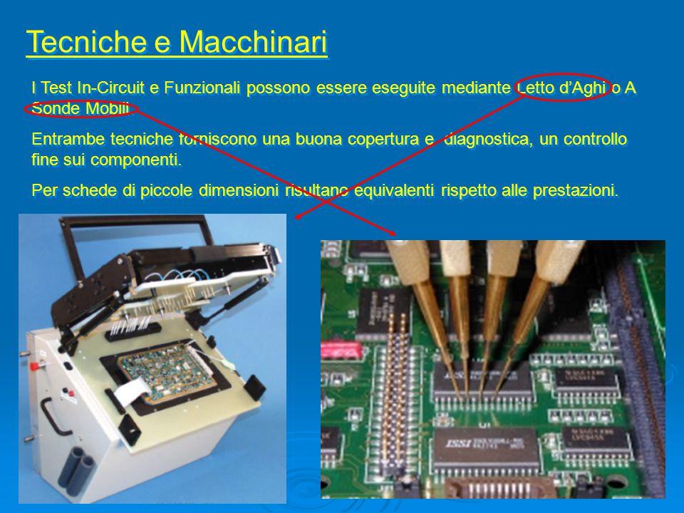 Tecniche e Macchinari I Test In-Circuit e Funzionali possono essere eseguite mediante Letto d'Aghi o A Sonde Mobili. Entrambe tecniche forniscono una