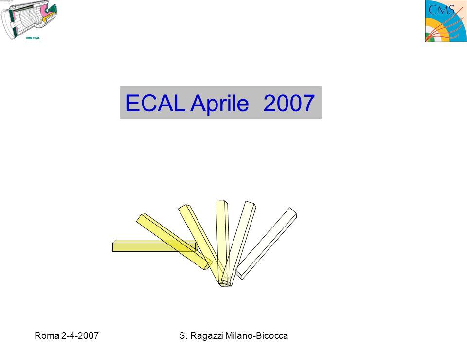 Roma 2-4-2007S. Ragazzi Milano-Bicocca ECAL Aprile 2007