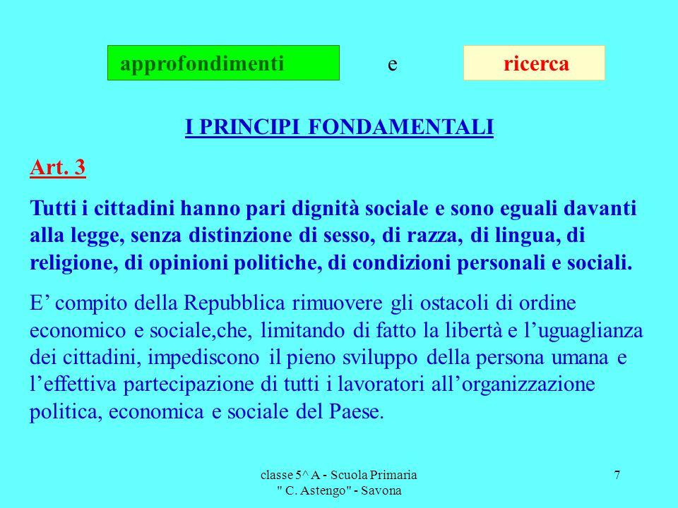 classe 5^ A - Scuola Primaria C.Astengo - Savona 8 Art.